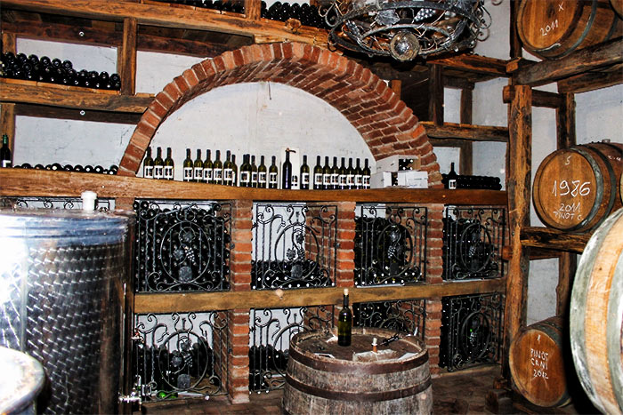 Vinia wine cellar