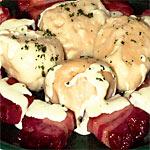 Czech dumplings with sauce