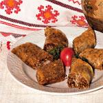 Rolls of buckwheat porridge